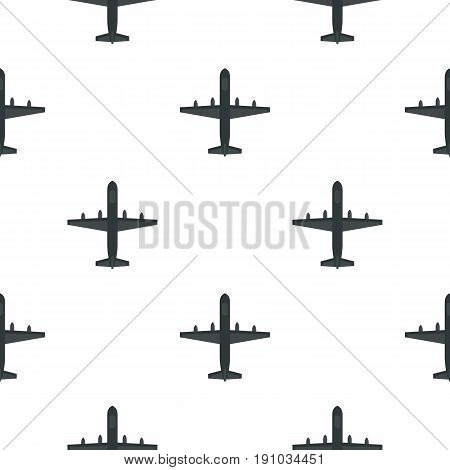 Large aircraft with missiles pattern seamless flat style for web vector illustration