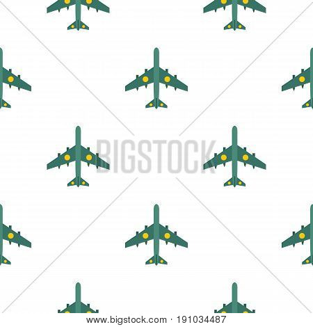 Military aircraft with missiles pattern seamless flat style for web vector illustration