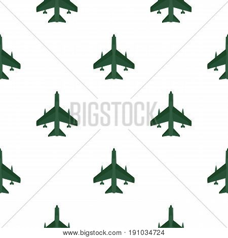 Aircraft with missiles pattern seamless flat style for web vector illustration