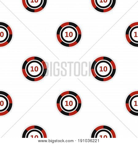 Casino chip pattern seamless flat style for web vector illustration