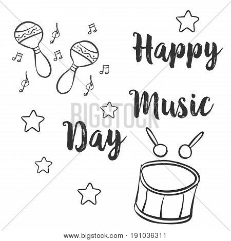 Collection stock card for music day vector art