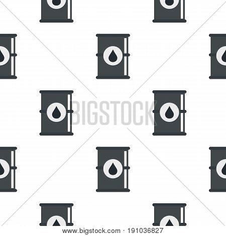Barrel of oil pattern seamless flat style for web vector illustration