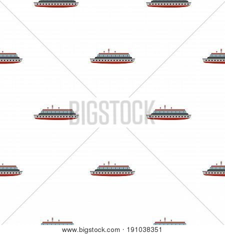 Long ship pattern seamless flat style for web vector illustration
