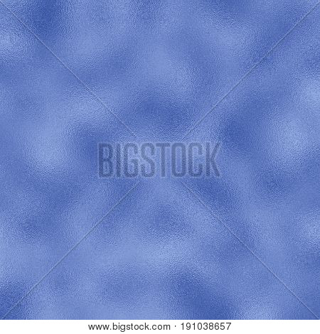 Colored foil raster texture for festive background. Blue foil pattern tile. Christmas or New Year ice foil backdrop. Winter greeting card background. Dark blue gradient. Glass frosted texture swatch