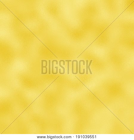 Yellow golden foil raster texture for festive background. Golden foil pattern tile. Wedding or birthday golden backdrop . Square greeting card background. Gold gradient. Golden foil texture swatch