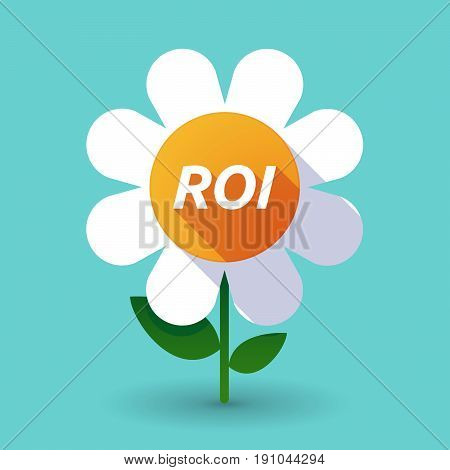 Long Shadow Flower With    The Return Of Investment Acronym Roi