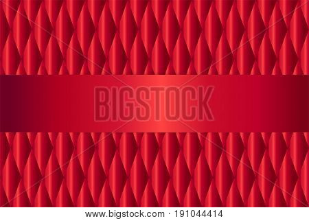 vector abstract red upholstery background with copy space