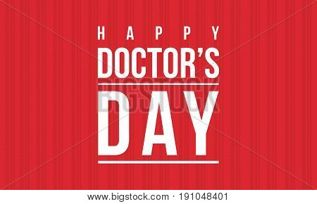 Collection stock of doctor day celebration card vector art