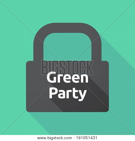 Long Shadow Lock With  The Text Green Party