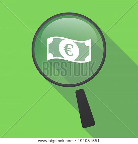 Long Shadow Loupe With  An Euro Bank Note