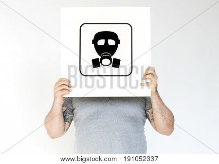 Radioactive risk hazard safety caution sign