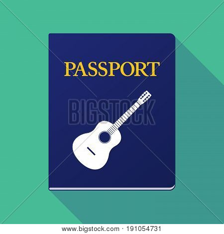 Long Shadow Passport With  A Six String Acoustic Guitar