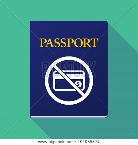 Long Shadow Passport With  A Credit Card  In A Not Allowed Signal
