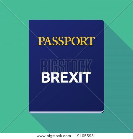 Long Shadow Passport With  The Text Brexit