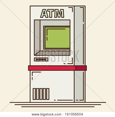 ATM machine vector for design and web