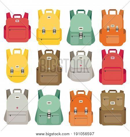 Schoolbag Flat Illustration. Bag For School.