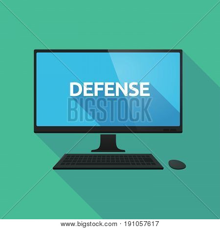 Long Shadow Computer With  The Text Defense