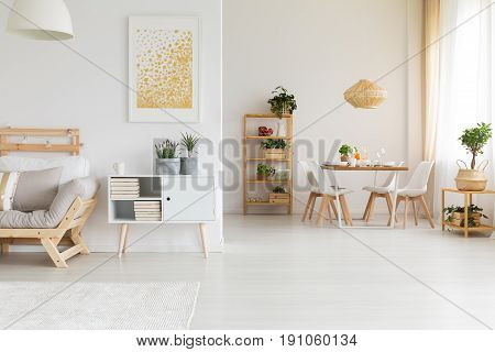 Dining and living room in one stylish space