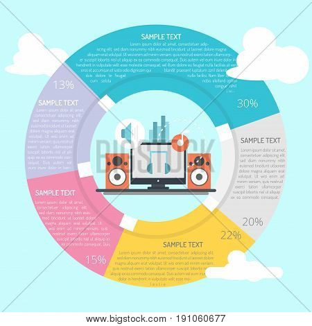 Music Composer Infographic | set of vector diagram illustration use for presentation, business, marketing and much more.The set can be used for several purposes like: websites, print templates, presentation templates, and promotional materials.