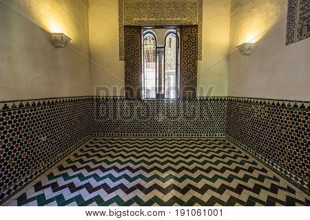 Interiors Of Seville Alcazar, Seville, Andalusia, Spain