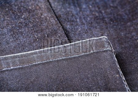 Blue Jeans texture background with seam sewing