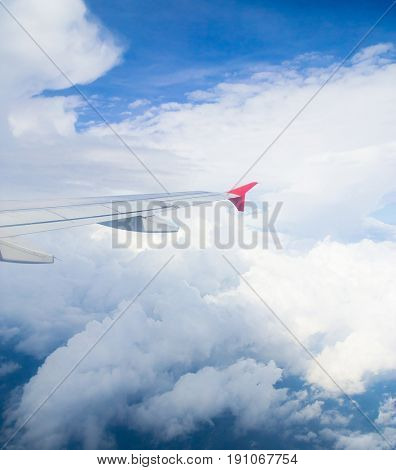 Wing over Lands Cloudscape Around