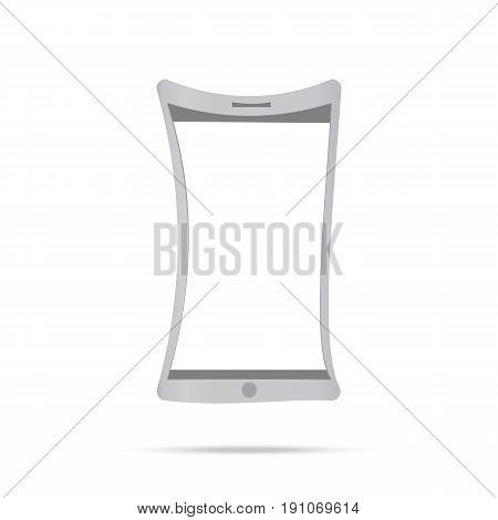 Flexible display smartphone. Mobile technology vector illustration