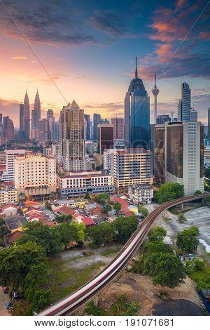 Kuala Lumpur. Cityscape image of Kuala Lumpur, Malaysia during sunrise.