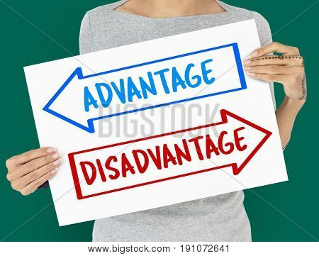 Arrows Opposite Choice Advantage Disadvantage Icon