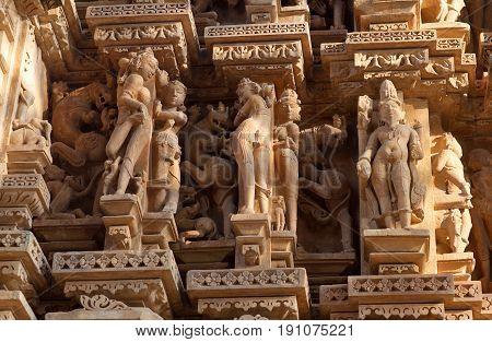 Famous Erotic Temple In Khajuraho, India