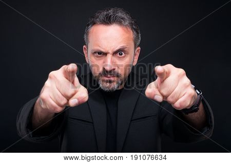 Furious Classy Man Pointing At You