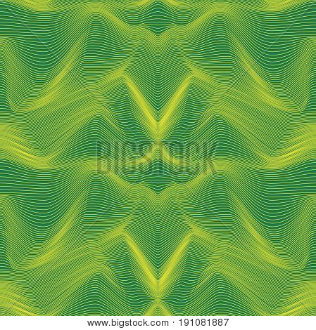 Abstract Seamless Pattern In Green And Yellow