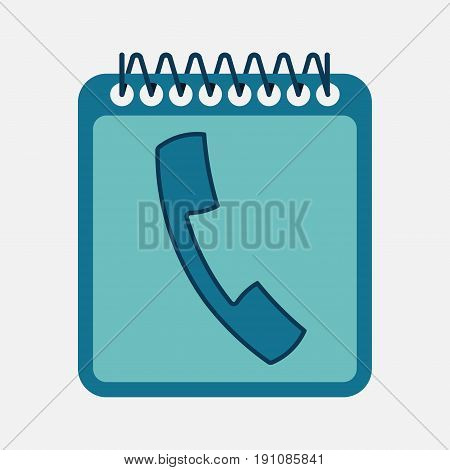 icon call communications flat deign call commit vector image