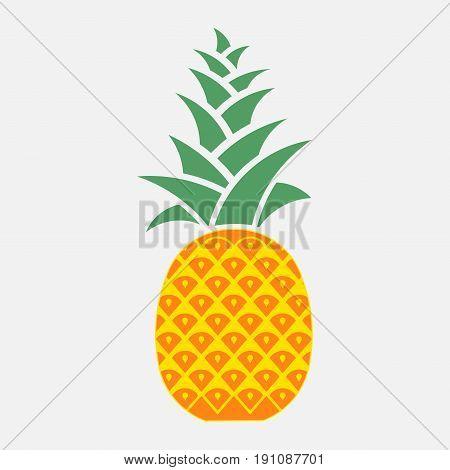 icon pineapple symbol of hospitality flat design vecto image