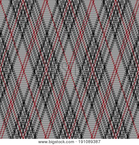 Seamless Checkered Pattern In Grey And Red