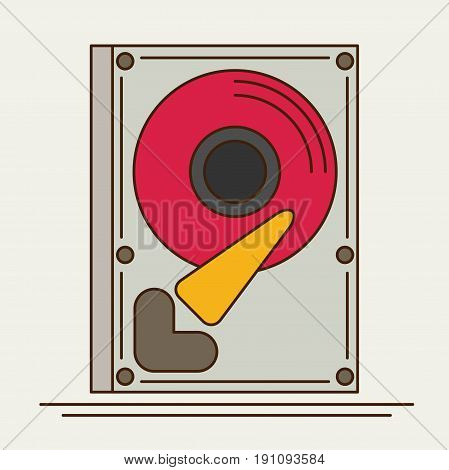 Hard drive disk. flat vector icon for design and web