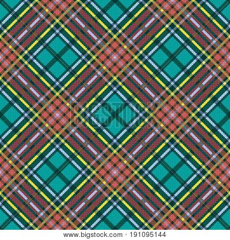 Diagonal Seamless Checkered Pattern