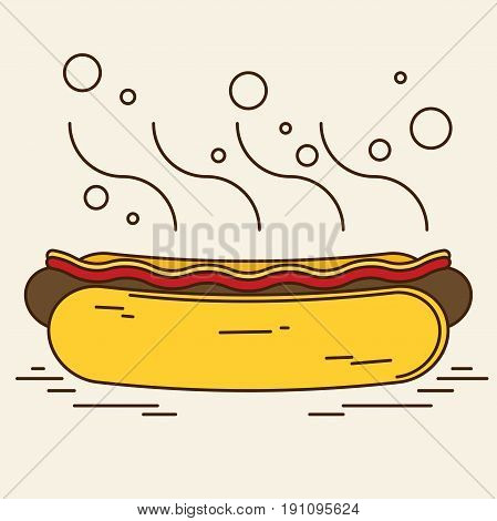 Hotdog Icon Great For Any Use. Vector Eps10.