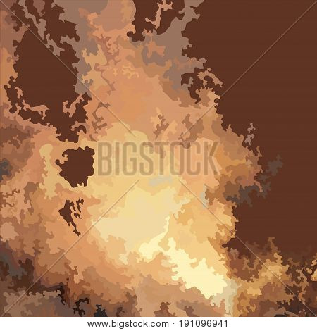 drawn fire blast on the brown background