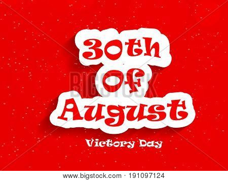 illustration of 30th of August Victory day Text on the occasion of Turkey Independence day