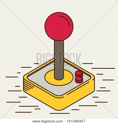 Computer Video Game Joystick. flat vector icon for design and web