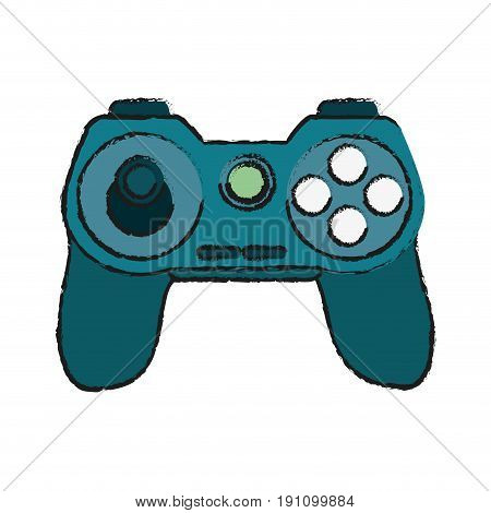 controller videogames related icon image vector illustration design  sketch style