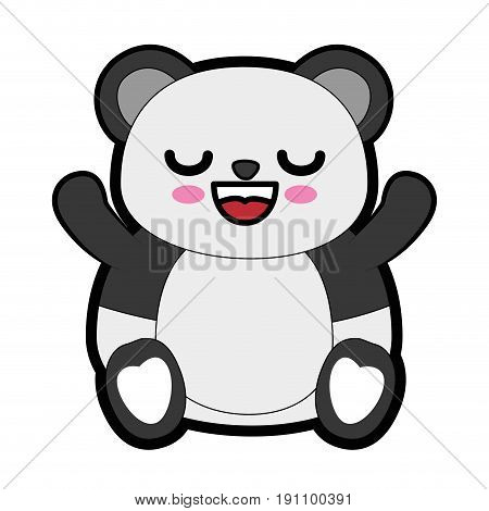 Cute bear kawaii cartoon icon vector illustration graphic design