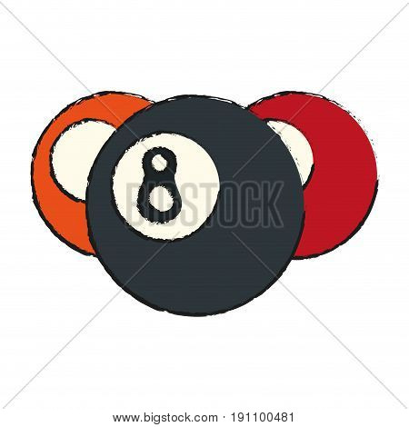 pool eight ball icon image vector illustration design  sketch style