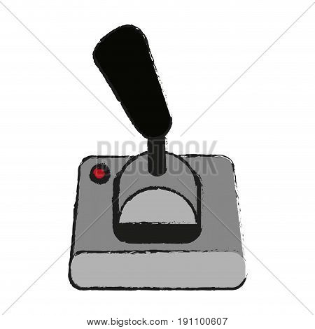 joystick videogames related icon image vector illustration design  sketch style