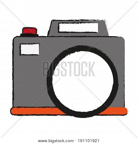 photographic camera icon image vector illustration design  sketch style