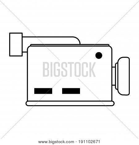 video camera icon image vector illustration design  black line