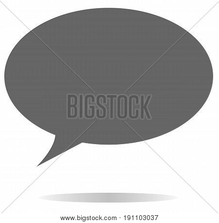 speech bubble icon. gray speech bubble icon on white background. speech bubble sign.
