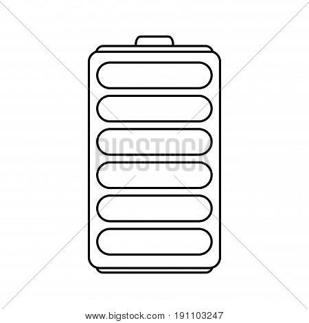 single battery icon image vector illustration design  black line