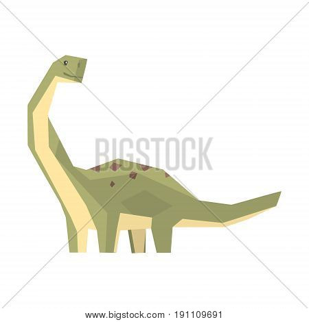 Cartoon hypsilophodon dinosaur character, Jurassic period animal vector Illustration isolated on a white background